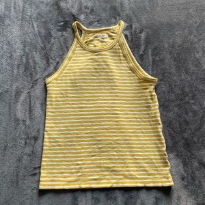 Madewell Time Off Tank in Yellow Marion Stripe
